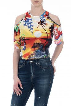 TOP COTTON PRINT PALM