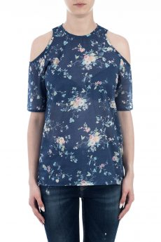 TOP COTTON PRINT FLOWER