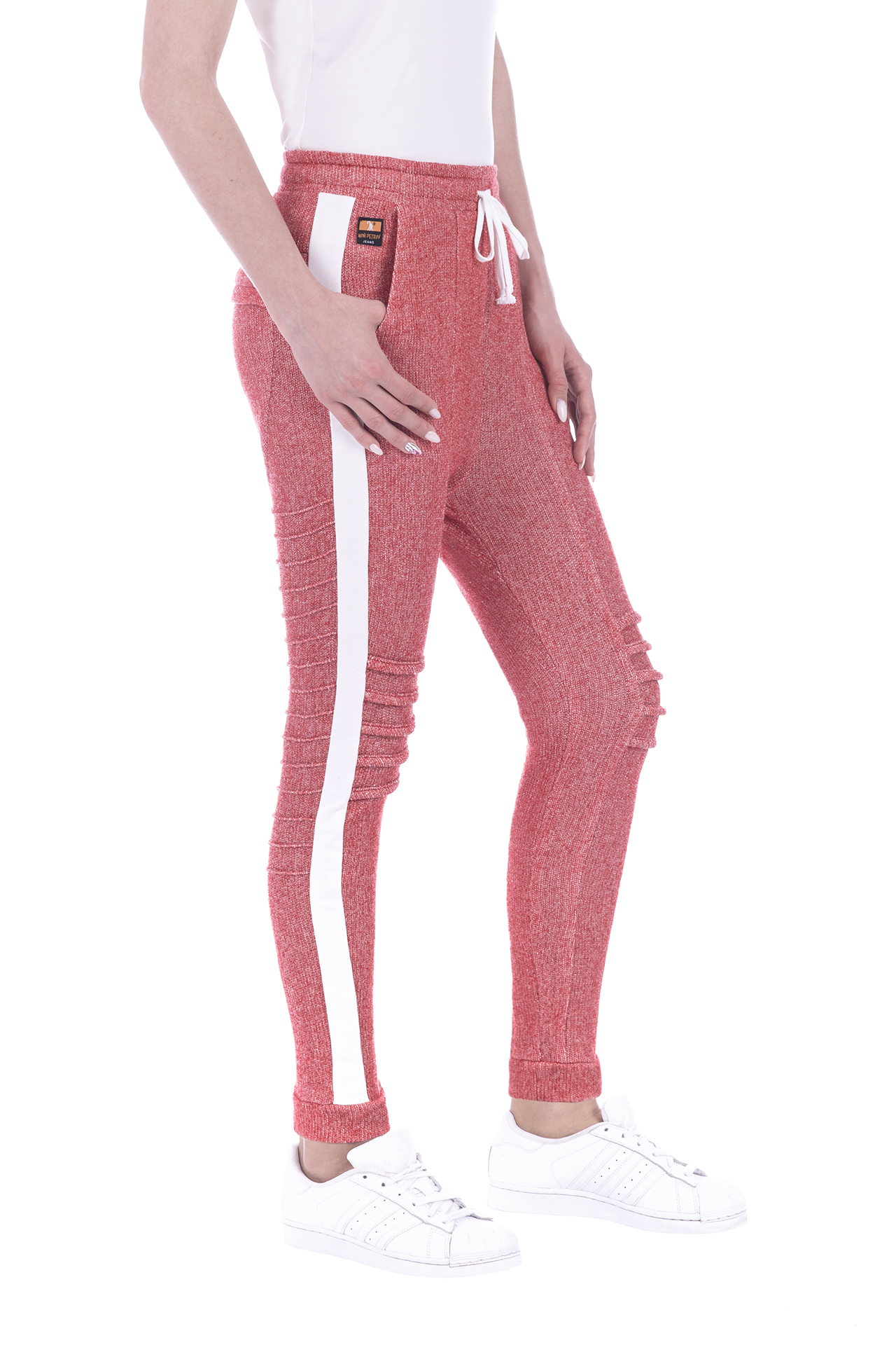 FRENCH TERRY PANT RED 1