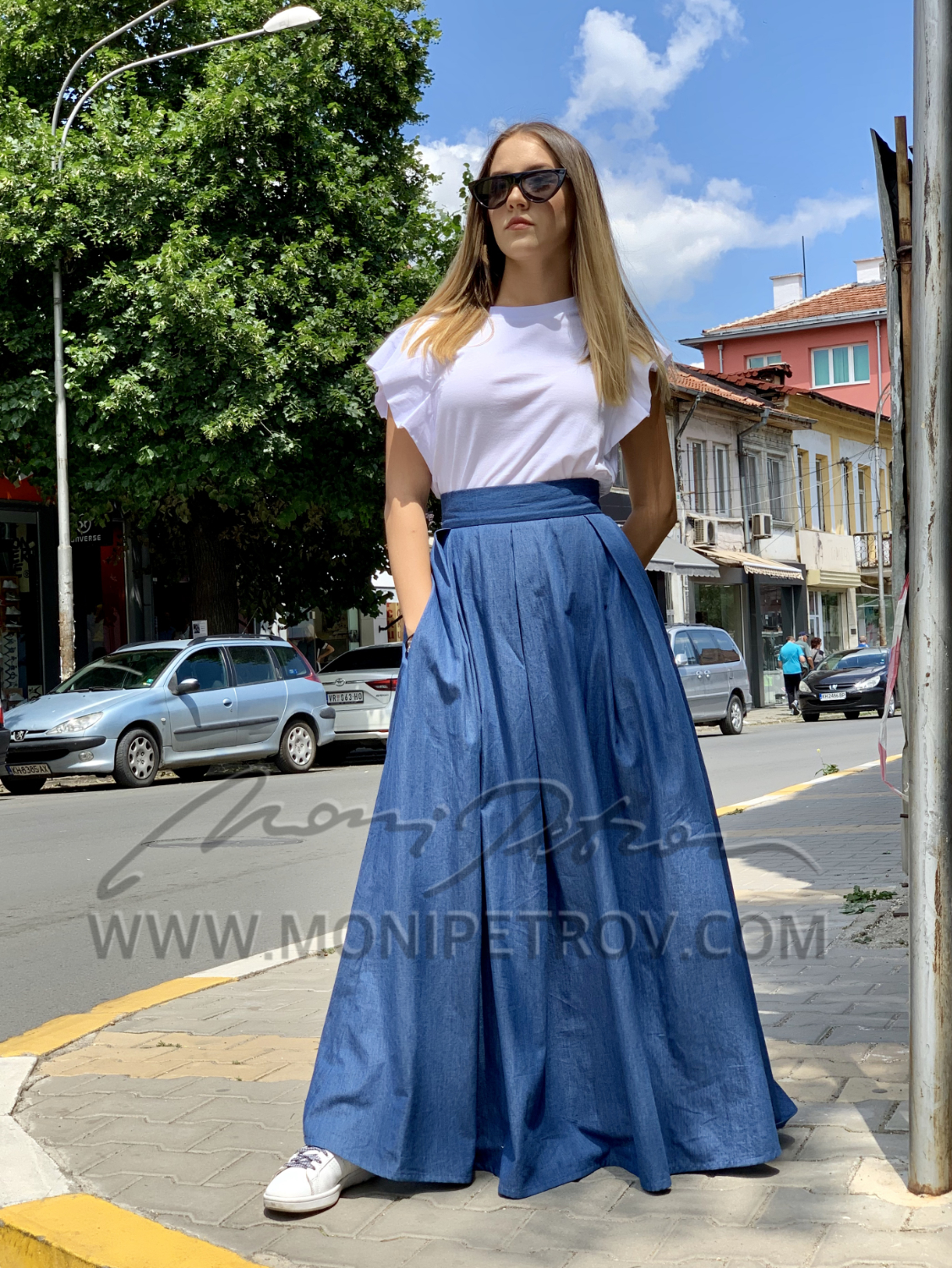 SKIRT SIMI LONG DENIM 1