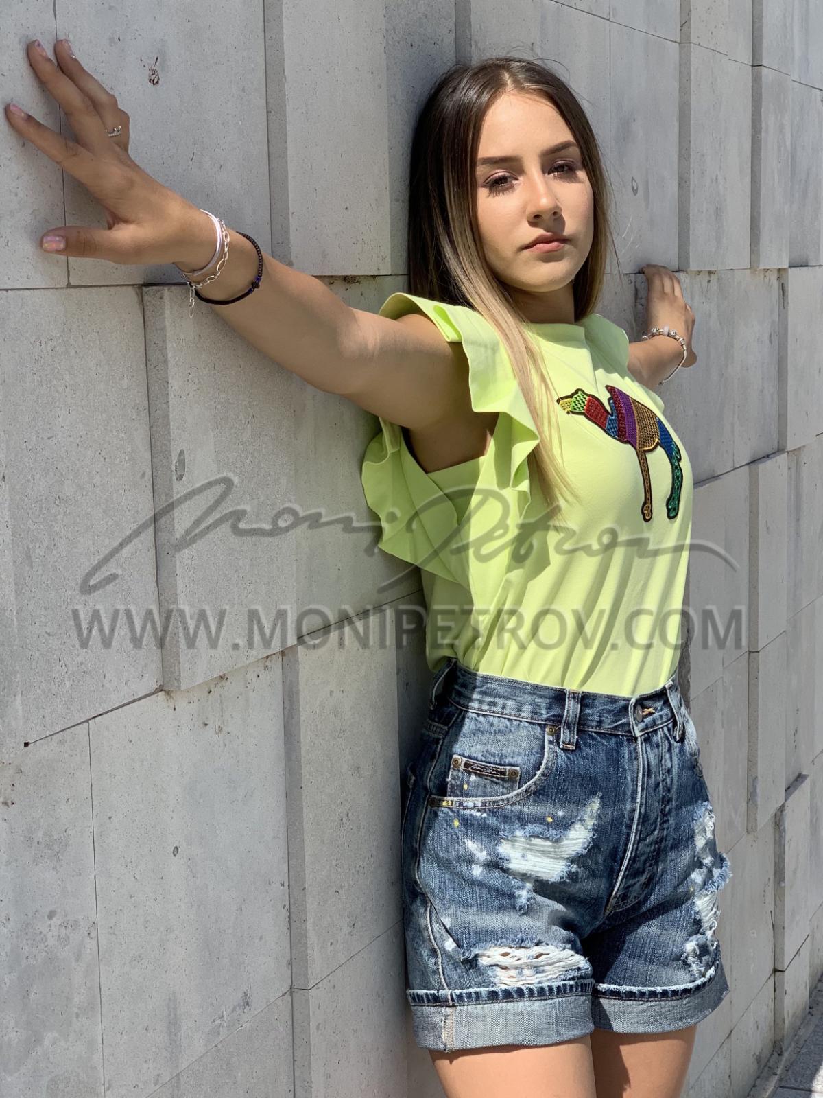 Top Lina Green Kamila 1