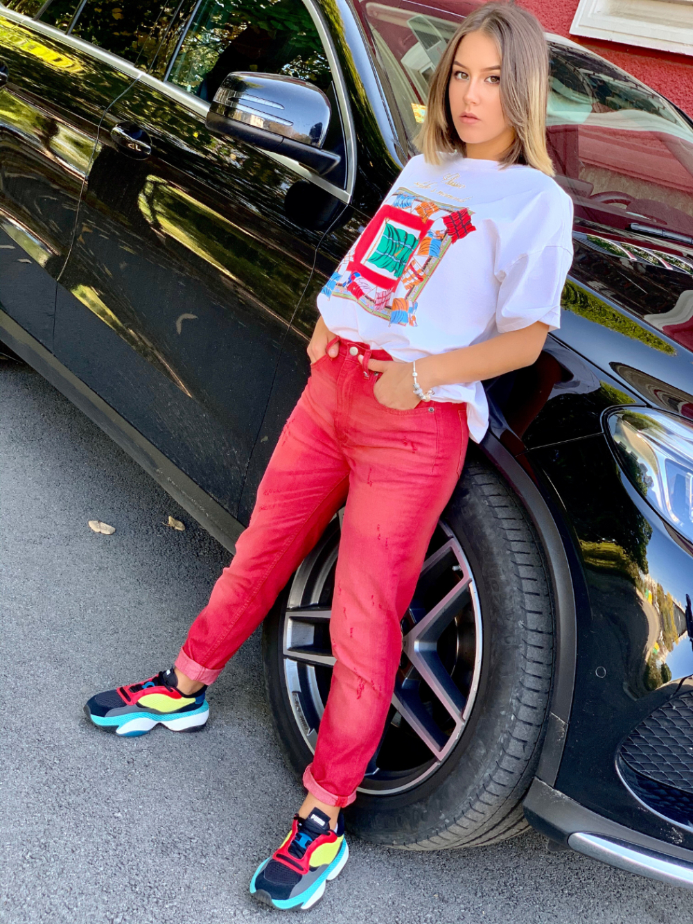 MOM JEANS RED 1